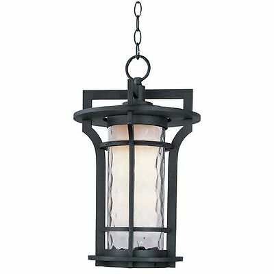 Maxim 55788WGBO Oakville 1 Light 12'' Pendant with Water Glass Shade