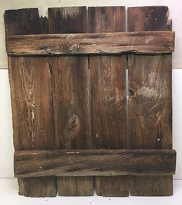 """Antique Architectural Salvage Door 25 1/2"""" x 30"""" Clinch Nailed From Pa Log Barn"""