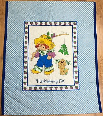 Vintage Blue Huckleberry Pie Children's Quilt Comforter Quilted Blanket 25x43""