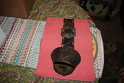 Vintage Mayrhofen Germany Austria Large Cowbell W/Attached Leather Strap-Country