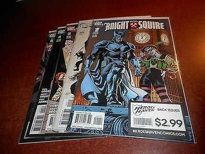 Knight and Squire #1 2 3 4 5 DC Near Set Mini Series Comic Book Lot 2010 COOL!