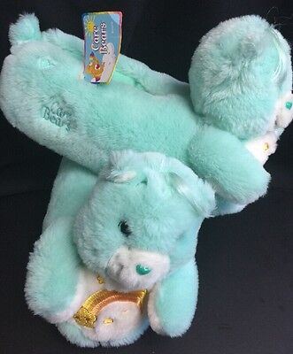 Care Bears Plush Slippers House Shoes NWT  Adult Large 9-10
