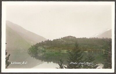 Lillooet B.c. Cayoosh & The Mighty Fraser Real Photo Postcard By A.w.a. Phair