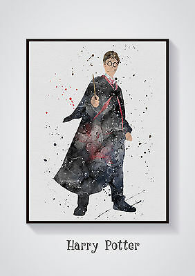 Harry Potter (1)  Watercolour Wall Prints - Sizes  10x8, A4, A3 Lots of Styes