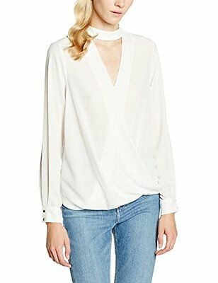 Bianco (Off White) (TG. 34) New Look Choker Wrap Shell, Top Donna, Bianco (Off W
