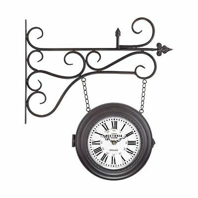 Sterling Industries 171-015 Bronze Double Sided Curled Iron Wall Clock