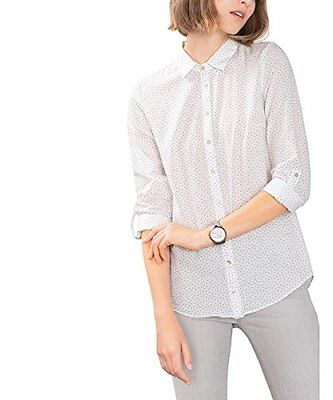 Bianco (off White 110) (TG. 34) ESPRIT 106EE1F023, Camicia Donna, Bianco (Off Wh