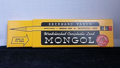 Eberhard Faber MONGOL 482  Box Of One Dozen Woodclinched Lead Pencils - New