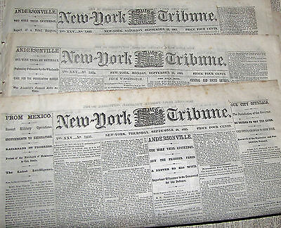 News Ny Tribune Trial Andersonville Wirz Poisoned Pow's By The Wholesale Slavery
