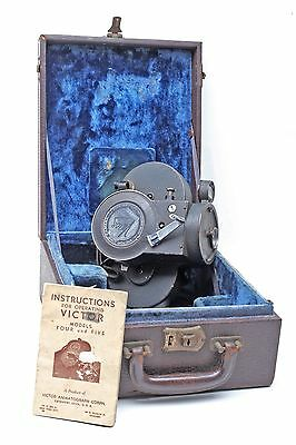 Victor Animatograph Cine 16mm Model 3 Motion Picture Camera+Case+Manual+WORKS
