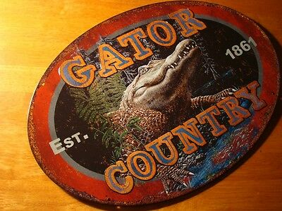 THIS IS GATOR COUNTRY Florida Alligator Swamp or New Orleans Bayou Sign Decor