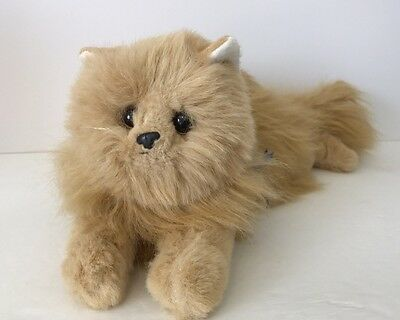 1987 Ty Classic Himalayan Ginger Cat Plush Kitty Orange Black Nose Blue Ribbon