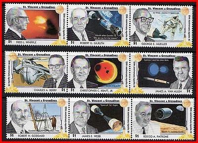 St.vincent 1994 Space Scientists / Apollo 11 Mnh Cv$10.00 Astronomy  (K-J18)