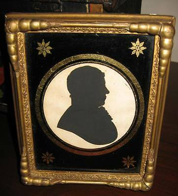 Early 19th C New England Silhouette - Fantastic Eglomise & Gilt Wood Frame