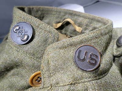 WWI VINTAGE US Army Doughboy Heavy Wool Chemical Corps Uniform