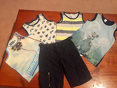 Country Road Shorts And Set Of 4 Tank Tops - Size 7