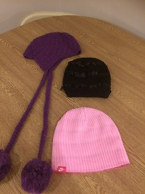 Girls Bundle Of Hats, Age Approx 5-8.