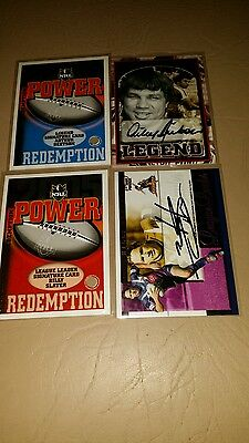 2005 Select Nrl Power Full Set Of 7 Signature Cards Plus Willie Mason Case Card.