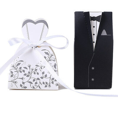 10-100PCS Luxury Wedding Party Sweets Cake Candy Gift Favor Favors Boxes