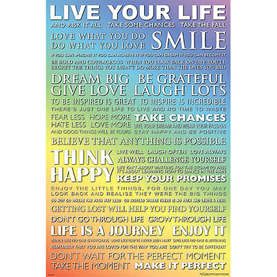 Live Your Life POSTER 61x91cm NEW *Art Inspirational Motivation