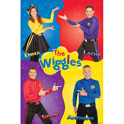 The Wiggles - Quartet POSTER 61x91cm NEW * Emma Lachy Simon Anthony Kids