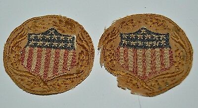 Antique Vintage US Army 13 Stars Colonies Shield Patch Lot of 2 Civil War? RARE
