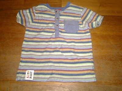 Lovely boys stripey t-shirt baby m&co 12-18 months