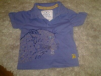 Boys tiger t-shirt with collar myleen klass collection 12-18 months