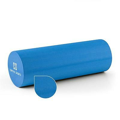 BLUE YOGA FOAM MUSCLE ROLLER 45 X 15 cm EXERCISE FITNESS MASSAGE * FREE P&P UK