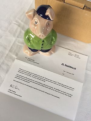 Wade NatWest Pigs Cousin Wesley NatWest pigs (complete with rare letter)