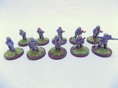 15mm Sci Fi ALIEN  INFANTRY x10 Superbly Painted Traveller 37238