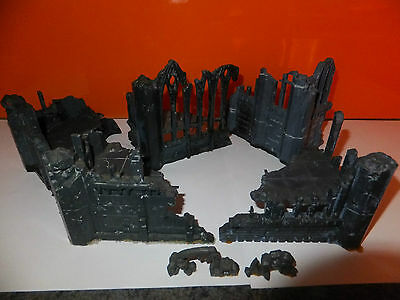 Warhammer Scenery, Gothic Church / Cathedral ruins, 7 pieces
