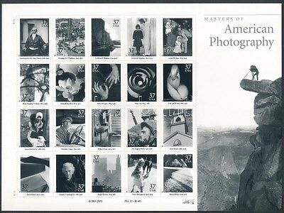 United States of America stamp 2002 American Photography foil-sheet MNH (1133)