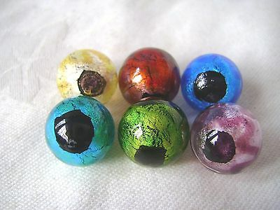 NEW 6 HANDMADE CONSTELLATION 16mm GLASS MARBLES TRADITIONAL COLLECTORS HOM