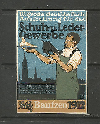 Germany/Bautzen 1912 Shoe & Leather Trade Exhibition poster stamp/label