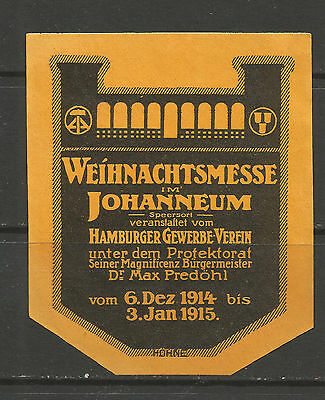 Germany/Hamburg 1914/15 Christmas Service poster stamp/label
