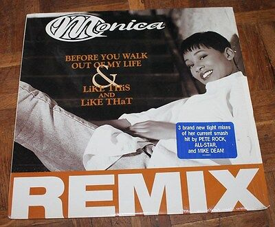 """MONICA * BEFORE YOU WALK OUT OF MY LIFE * Classic Soul Funk Boogie 12"""" Vinyl"""