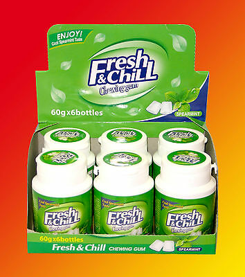 6x Fresh & Chill Spearmint Kaugummi Dragee á 60g=360g Cool Taste