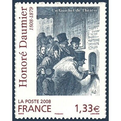 Timbre Poste Autoadhesif 224 Honore Daumier 2008 Neuf**