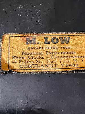 M.Low Nautical Instruments Ships Clocks Chronometers Part Only Vintage