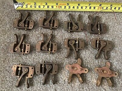 Lot Of 12 Vintage Brass Window Hardware