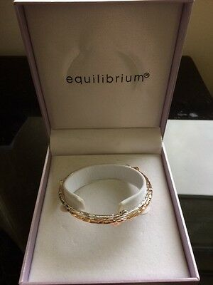 Equilibrium Ladies double rose gold and silver bracelet