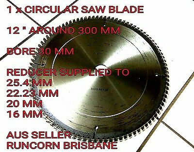 "300mm (12"") X 30/25.4mm BORE 96T  CIRCULAR SAW BLADE ALUMINIUM WOOD CUTTING"