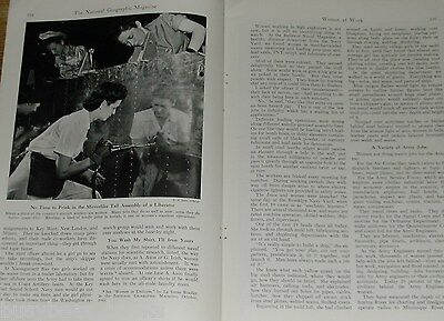 1944 magazine article Women Workers during WWII, female factory jobs etc Rosie