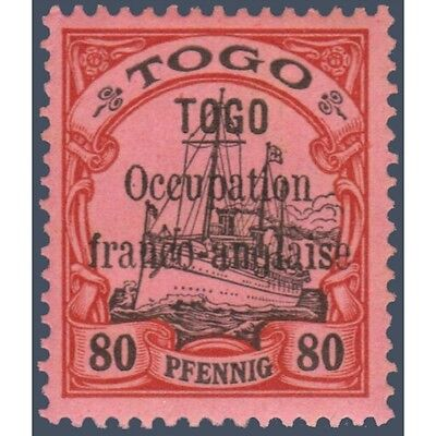 Togo N°29 Timbre Poste Du Togo Allemand Avec Surcharge 1914, Neuf*