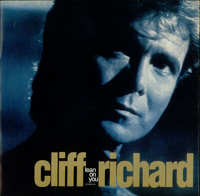 "Cliff Richard Lean On You 12"" vinyl single record (Maxi) UK 12EM105 EMI 1989"