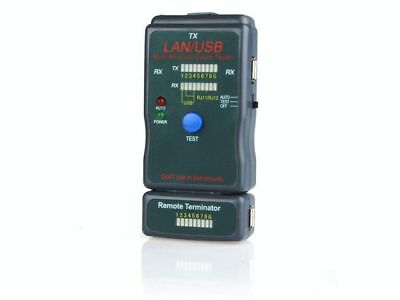 New Gembird Usb Lan Multi Modular Cable Tester For Utp, Stp, Usb Cables  Nct-2