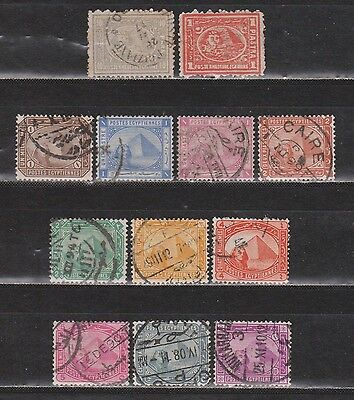 Egypt - 1872-1906 - Sphinx And Pyramid - 12 Different Stamps