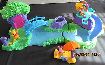 Disney Pooh 100 Acre Wood Swimmin' Hole Playset w/instructions and bag