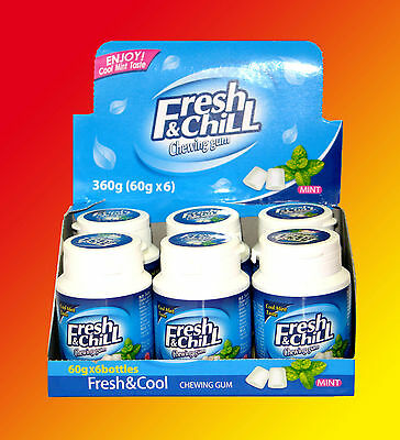 6x Fresh & Chill mint Kaugummi Dragee á 60g=360g Cool Taste